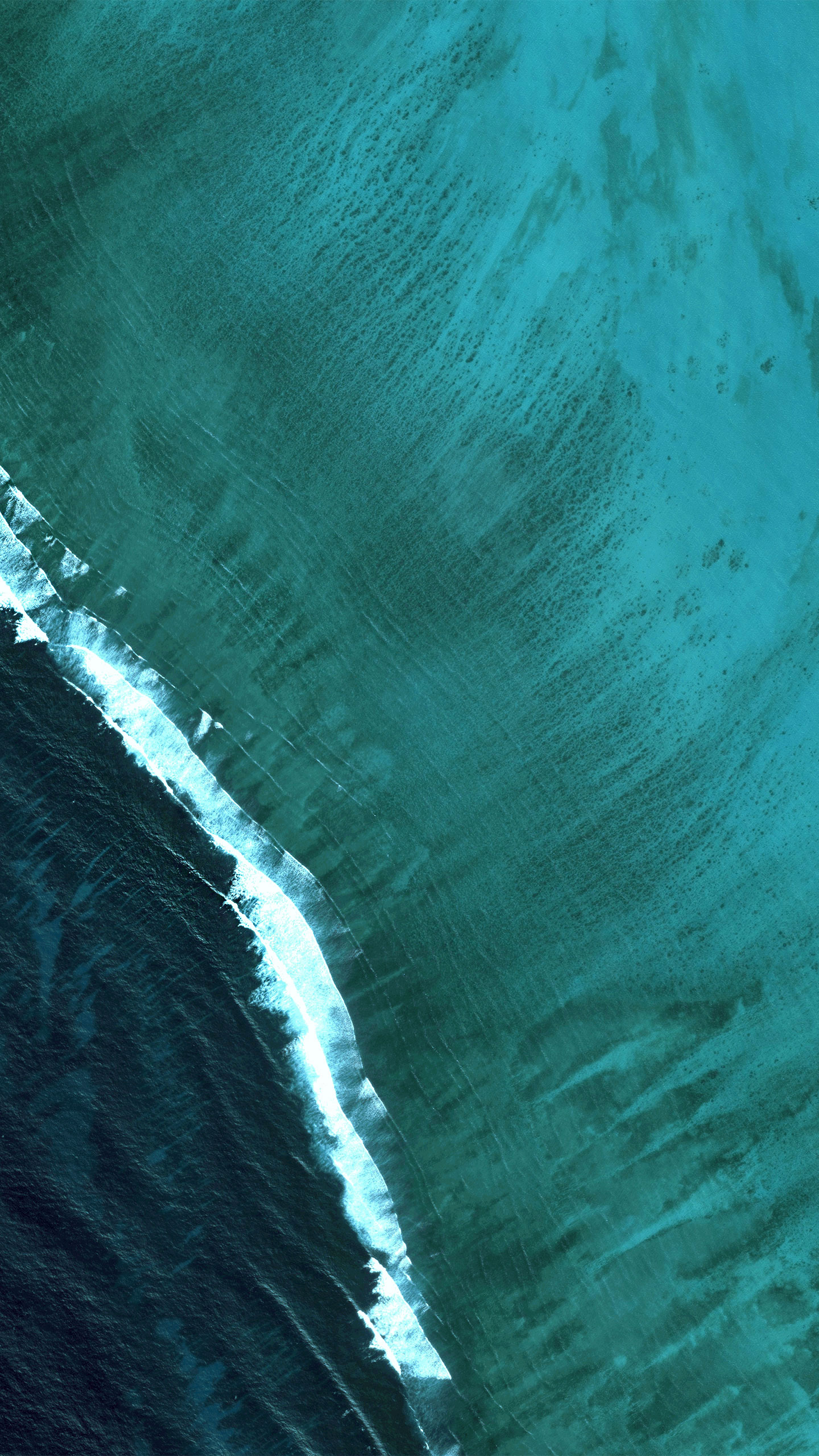 Download 1440x2560 Wallpaper Android Oreo, Android Stock, Sea Waves