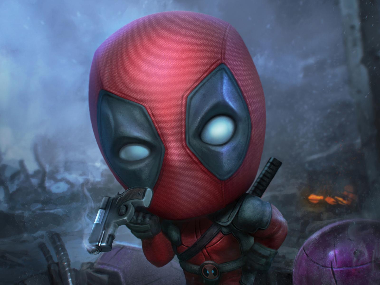 Desktop Wallpaper Deadpool Funny Face Fan Art Hd Image Picture Background Bbfede