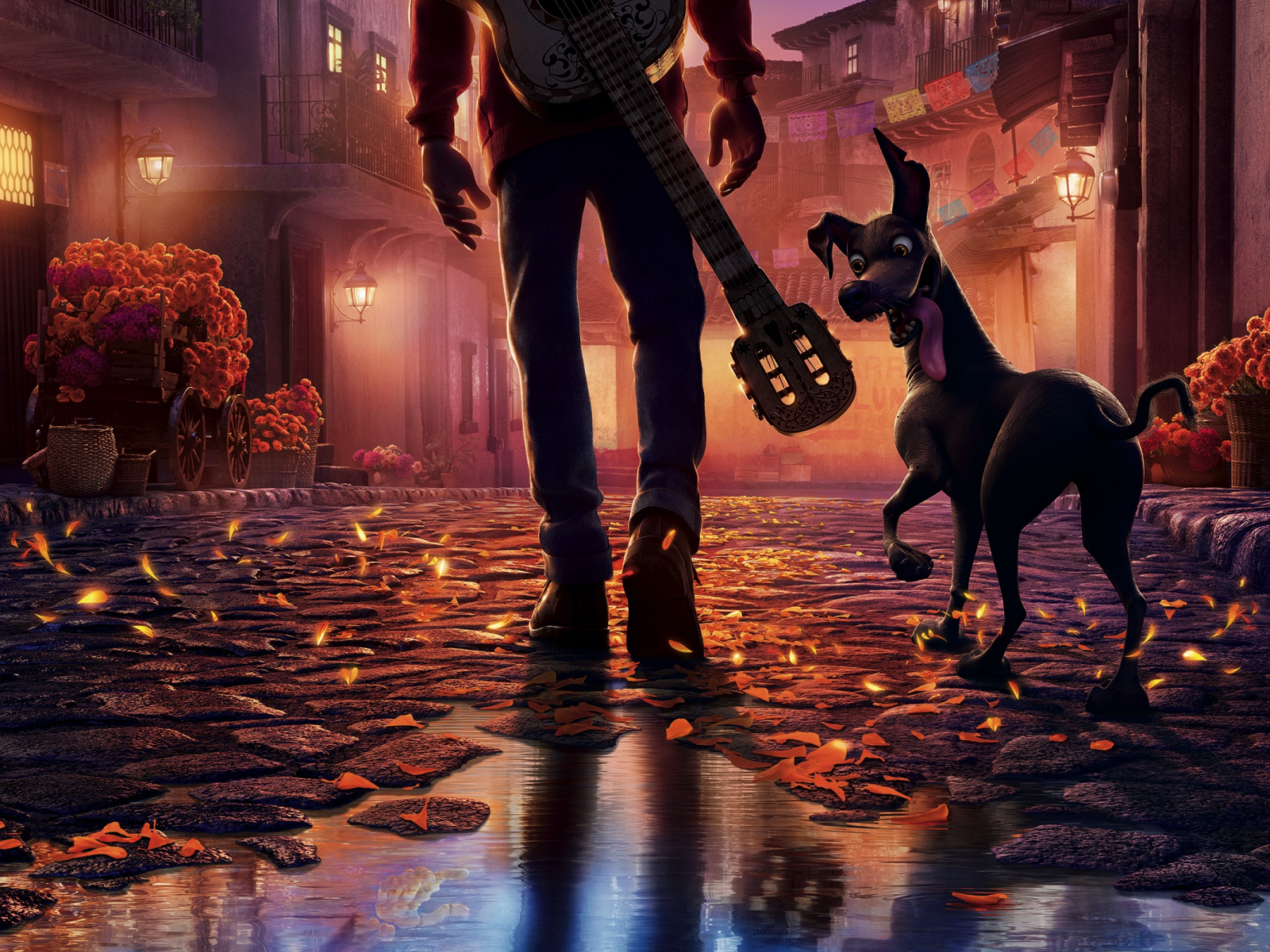 Desktop Wallpaper Coco, Animated Movie, Pixar, Dog, Street ...