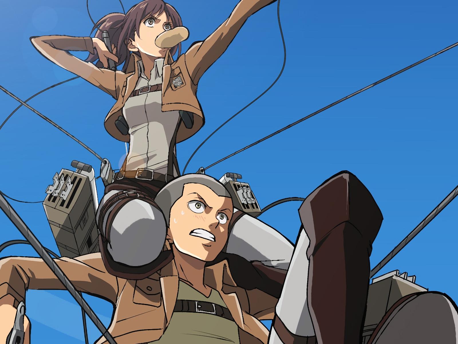 Desktop Wallpaper Sasha Blouse Attack On Titan Anime Girl Hd Image Picture Background Vkuqwz
