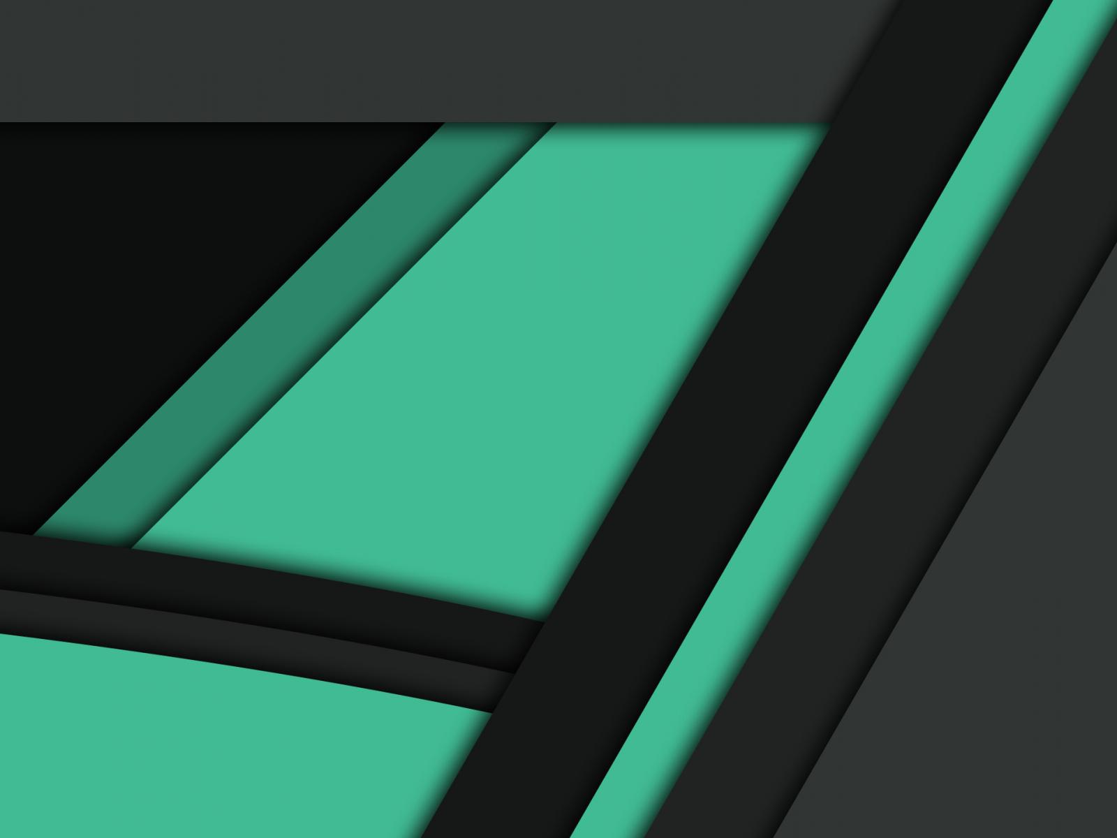 Desktop Wallpaper Black Green Material Design, Hd Image ...