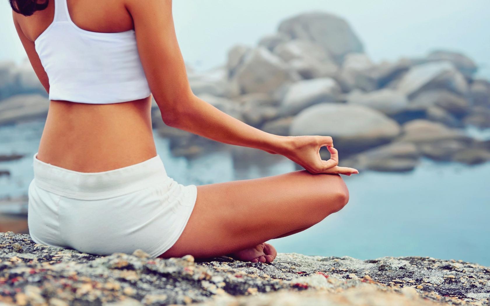 Desktop Wallpaper Yoga Meditation Fitness Rocks Hd Image Picture Background Snjuoe