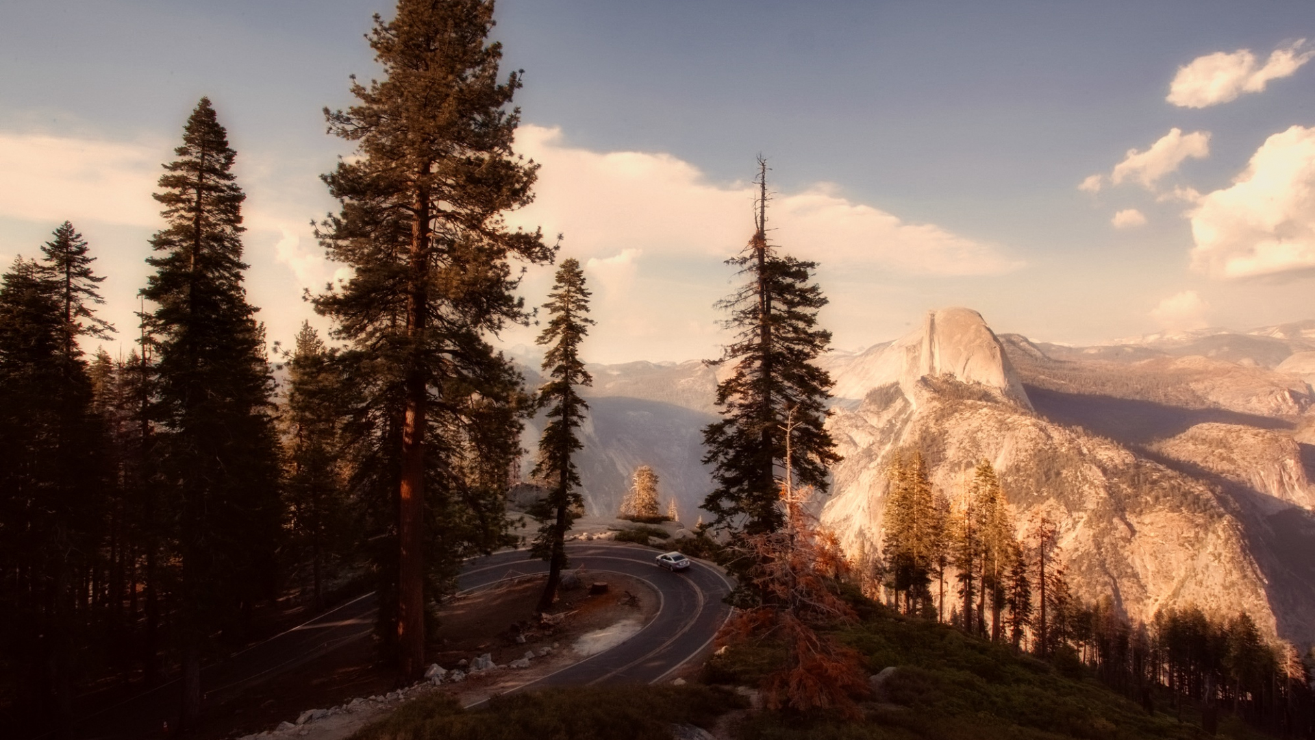 Download 1920x1080 Wallpaper Yosemite National Park Road
