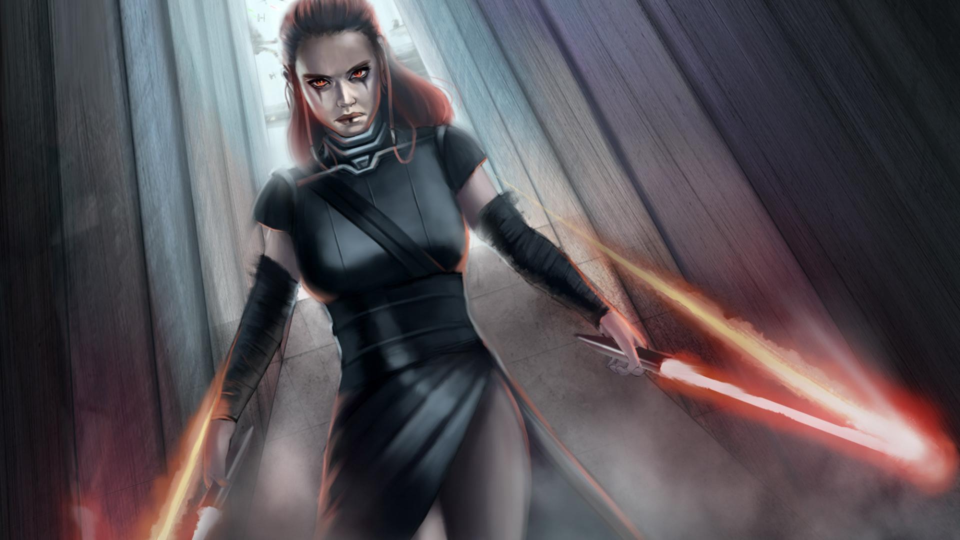 Desktop Wallpaper Rey Star Wars Art Hd Image Picture Background 4f81ab