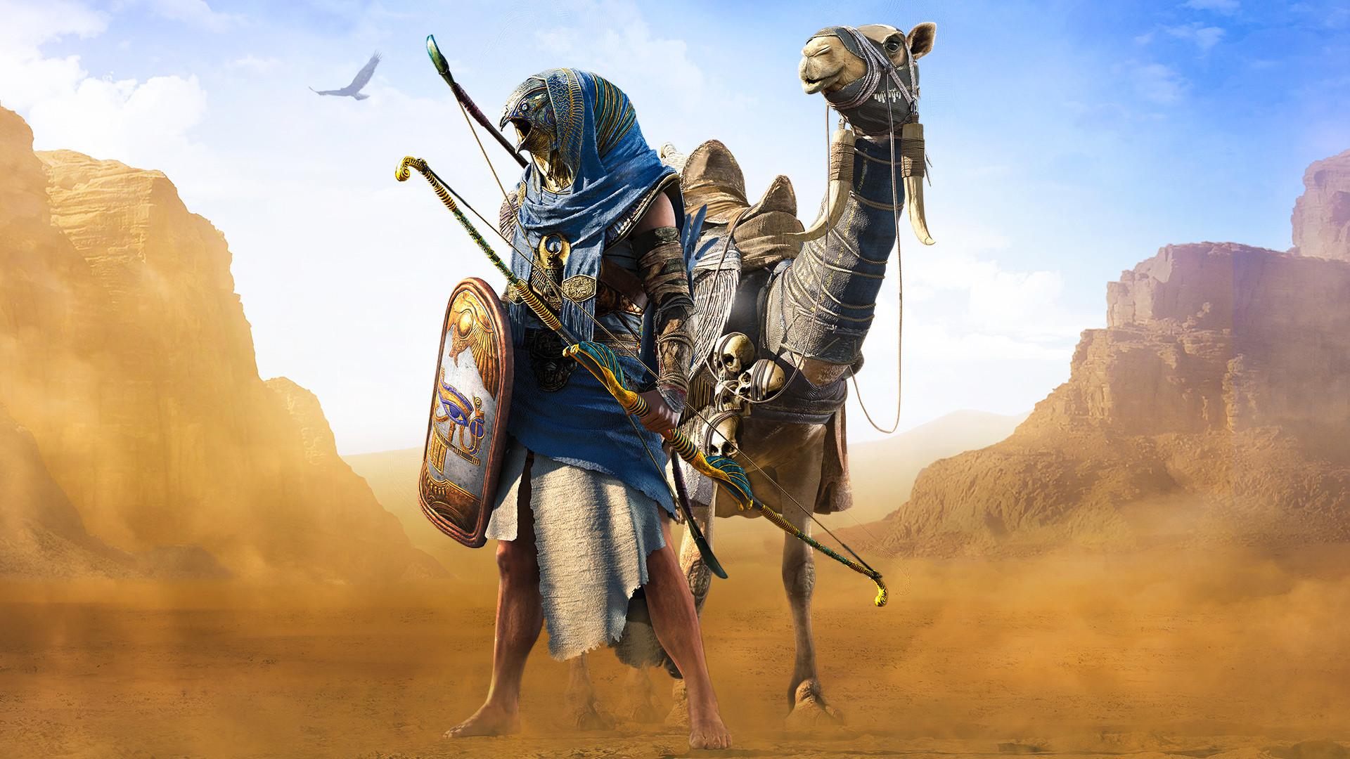 Desktop Wallpaper Horus Assassin S Creed Origins Game Desert Hd Image Picture Background 7019dd