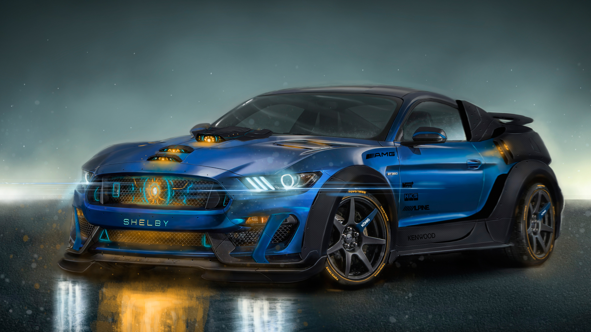 Download 1920x1080 Wallpaper Ford Mustang Shelby Gt350 Sports Car