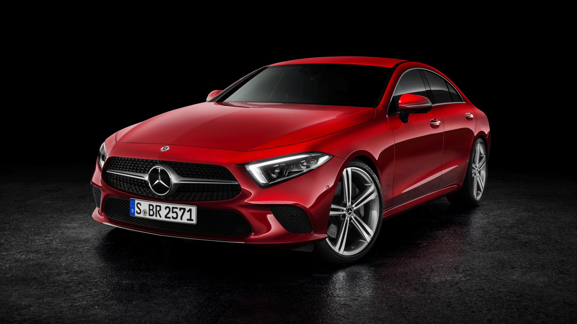 Download 1920x1080 Wallpaper 2019 Mercedes Benz Cls 450 Red Car 4k