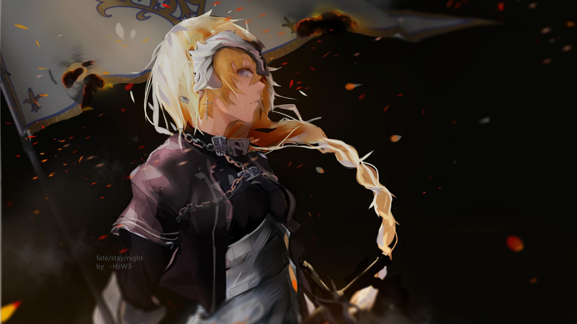 1920x1080 wallpaper Ruler, fate series, blonde anime girl, art, anime