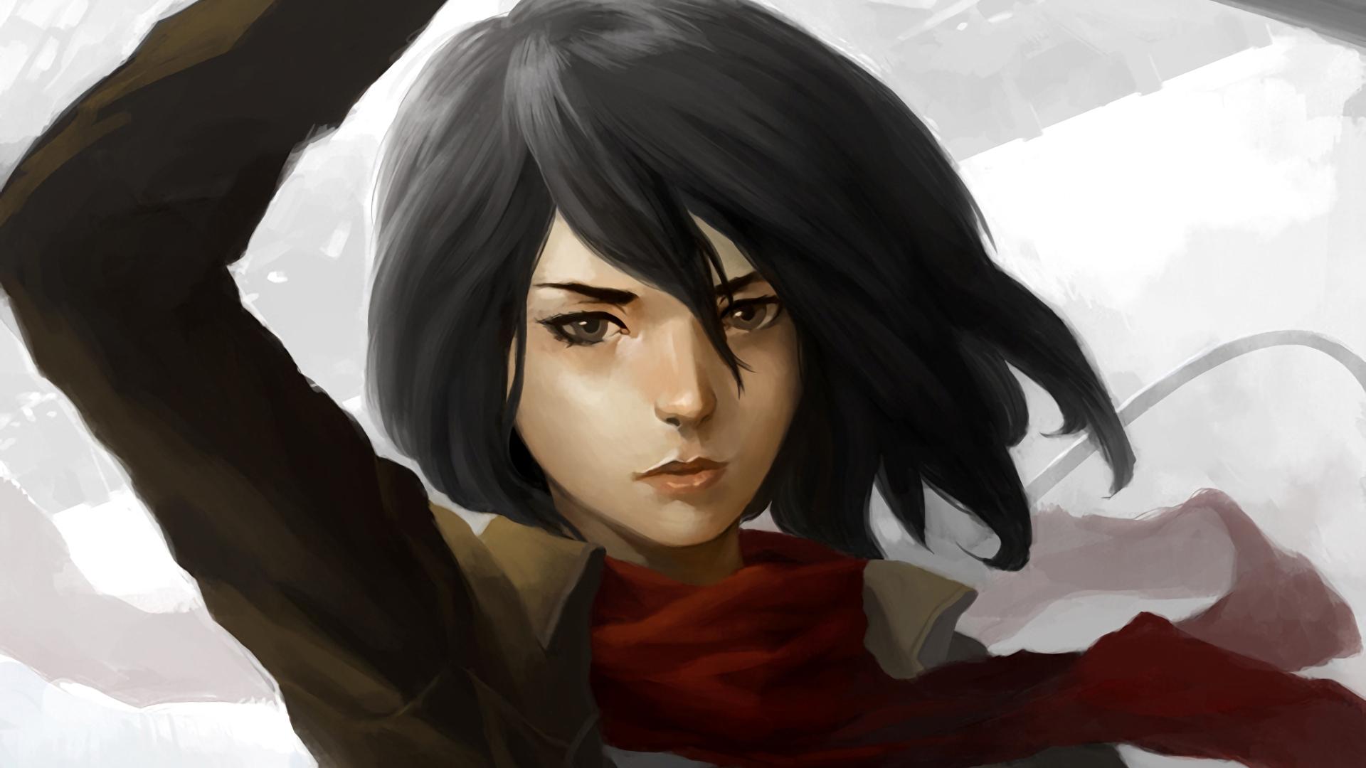 Desktop Wallpaper Mikasa Ackerman Attack On Titan Anime Anime Girl Face Hd Image Picture Background C0vtd9