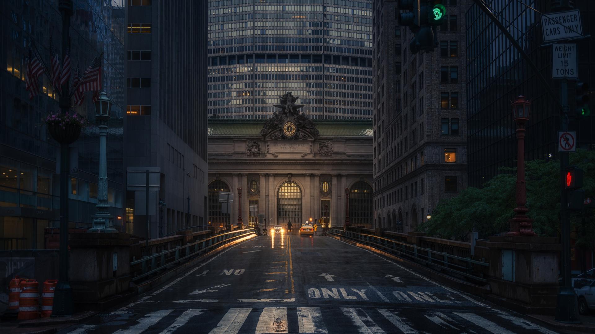 1920x1080 Wallpaper Road New York Night City