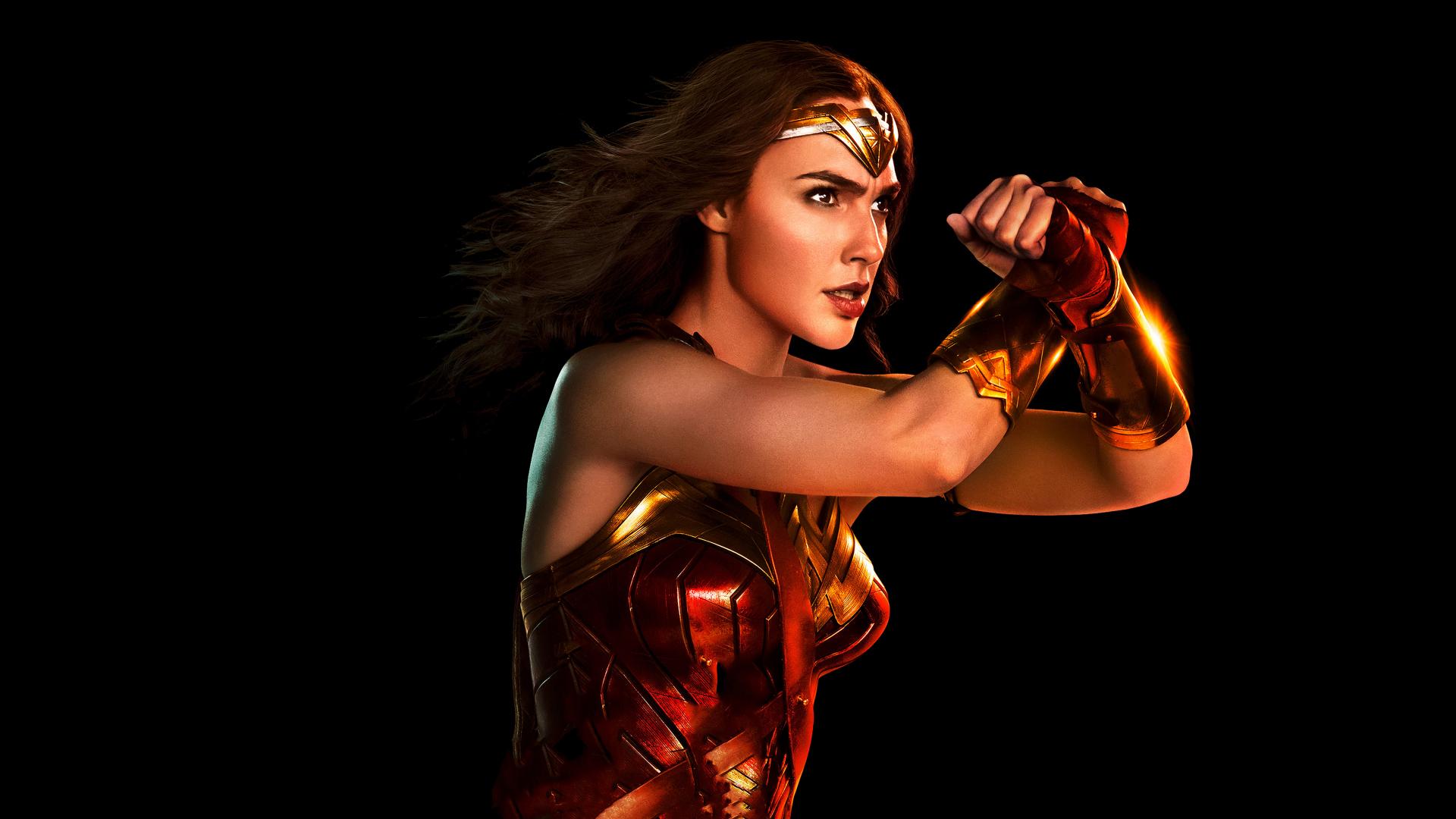 1920x1080 wallpaper Wonder woman, portrait, justice league, 2017 movie, 4k