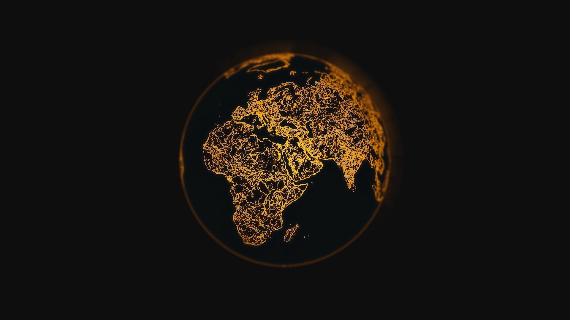 Download 1920x1080 Wallpaper Earth Minimal Digital Art Full Hd