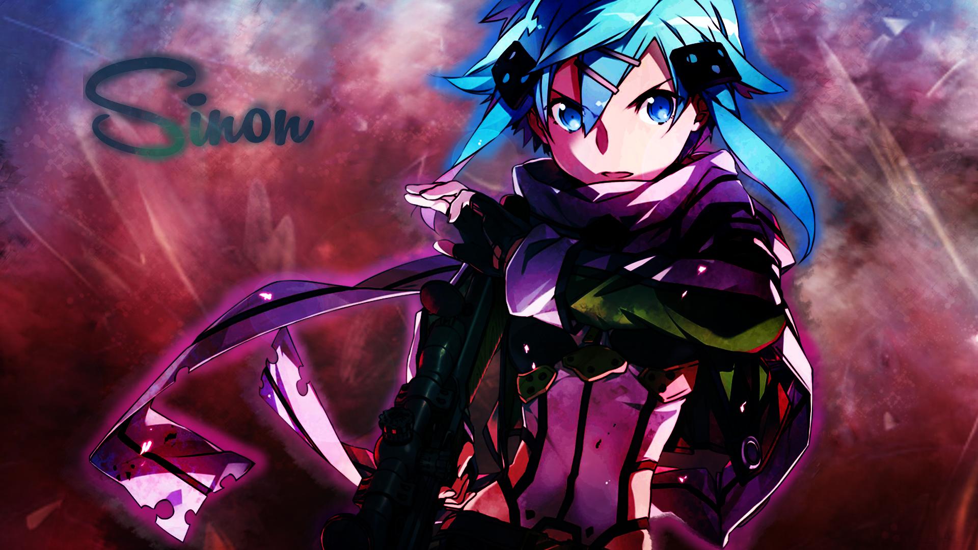 Download 1920x1080 Wallpaper Sword Art Online Sinon Anime Full Hd