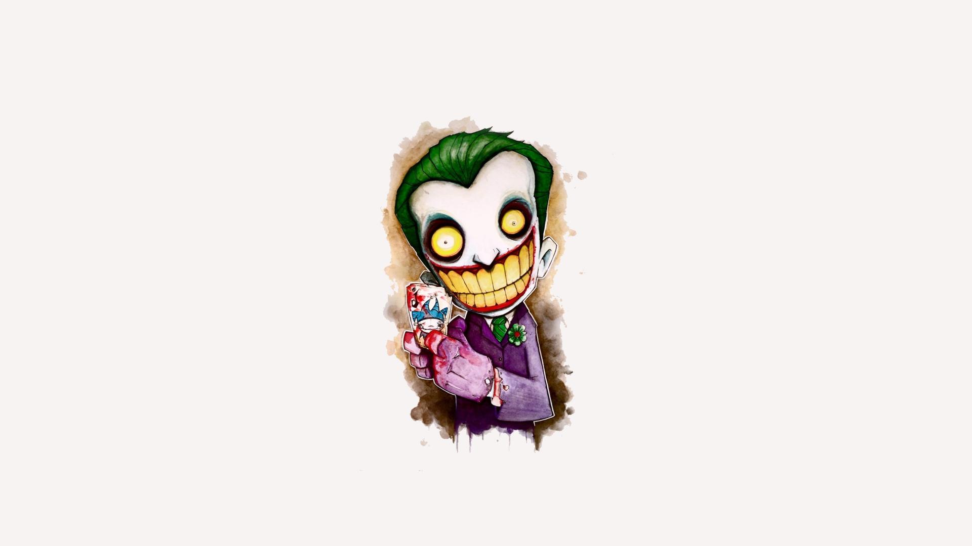 Download 1920x1080 Wallpaper Joker Cartoon Artwork 4k