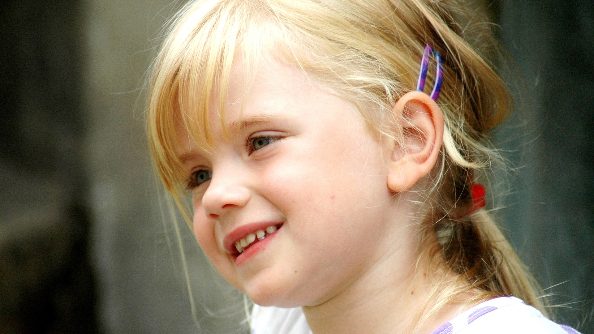 Download 1920x1080 Wallpaper Cute Baby Girl S Smiling Face Blonde