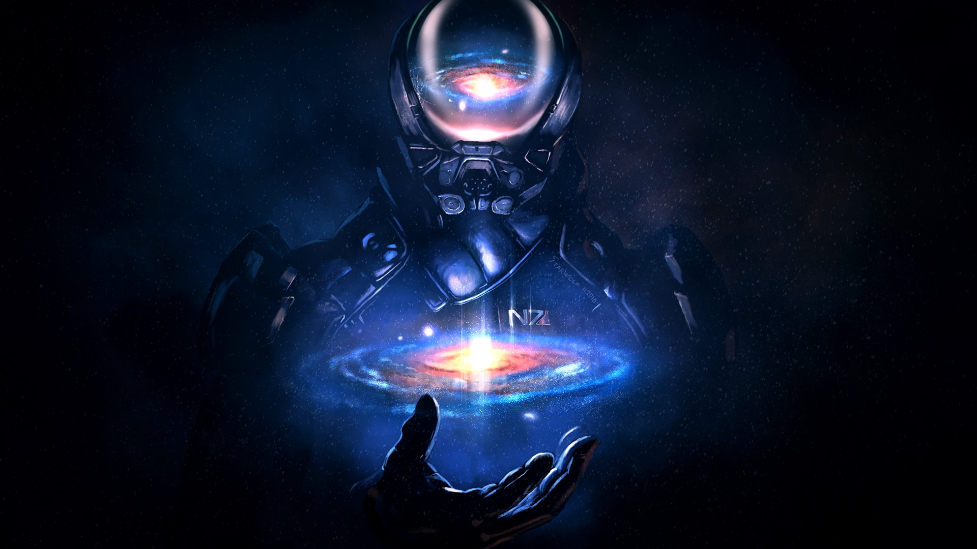Download 1920x1080 Wallpaper Mass Effect Andromeda Video Game N7