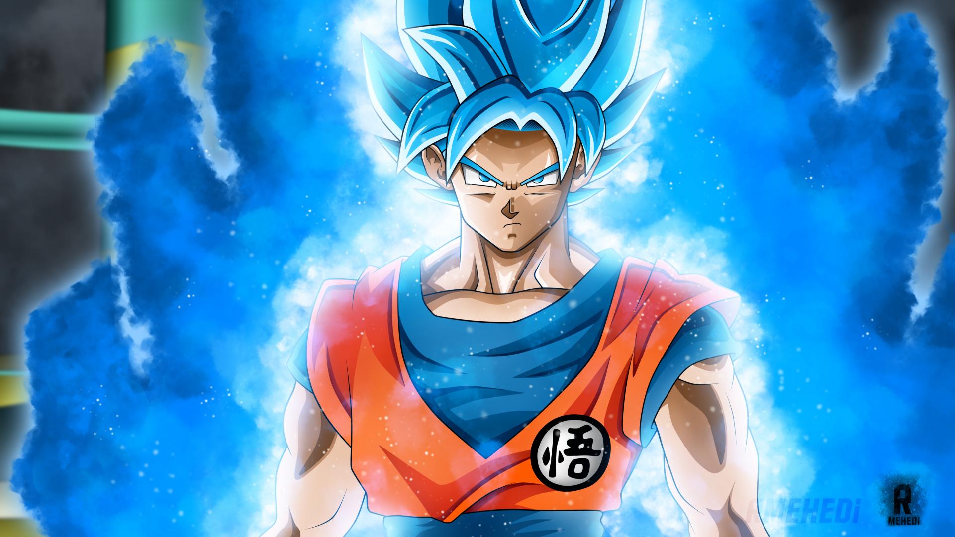 Download 1920x1080 Wallpaper Dragon Ball Super Blue Goku Anime