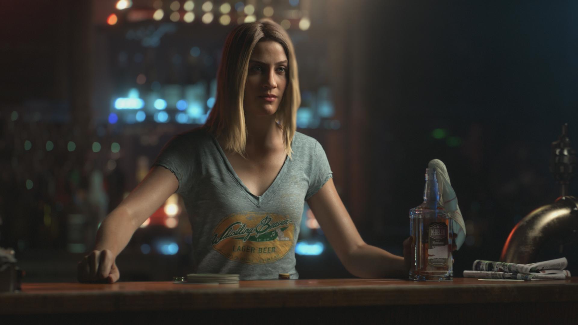 Desktop Wallpaper Far Cry 5 Video Game Bar Bartender Girl Hd