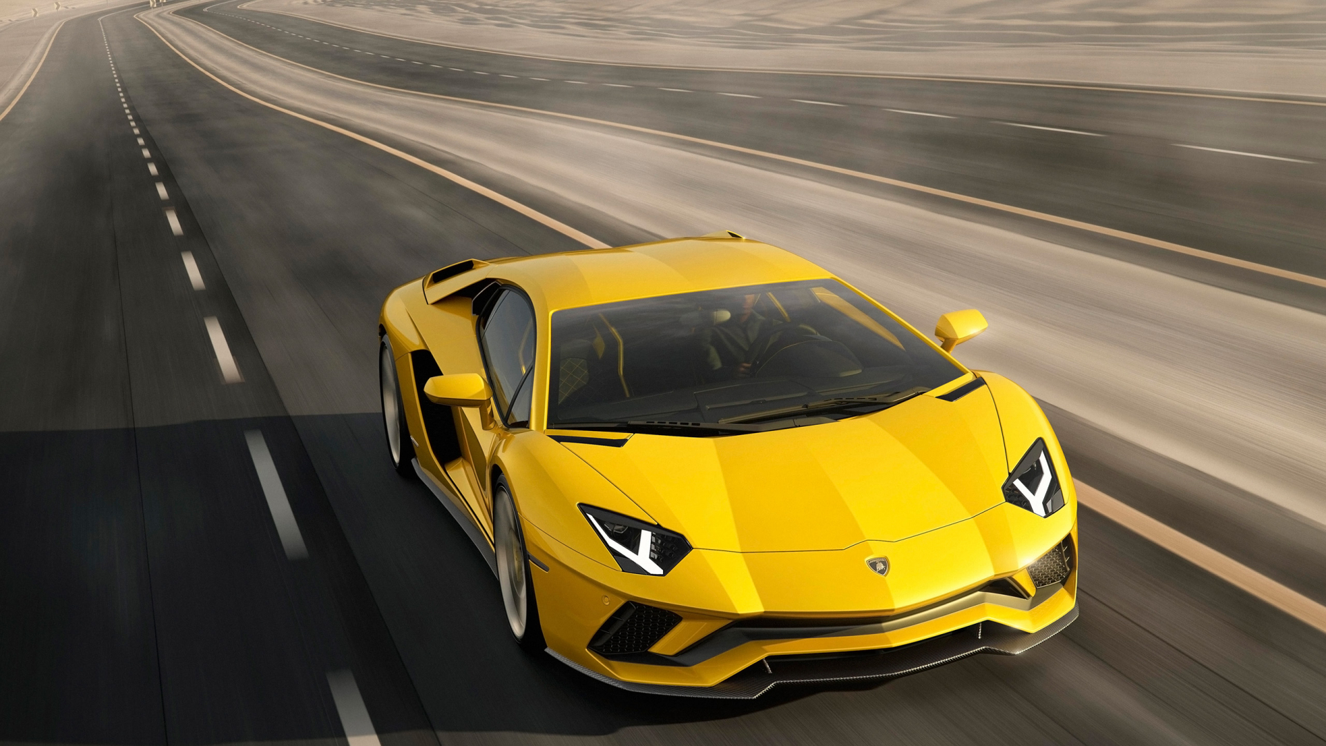 желтый спортивный автомобиль Lamborghini Aventador yellow sports car загрузить
