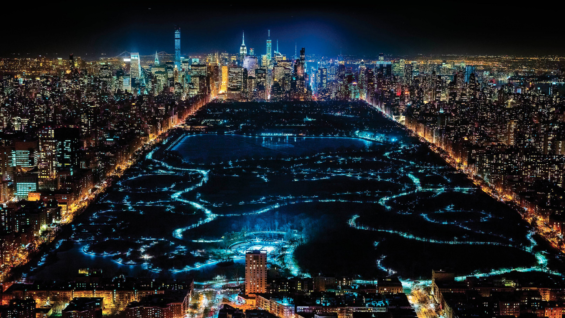 Desktop Wallpaper New York City In Night Hd Image Picture Background Twsm9x