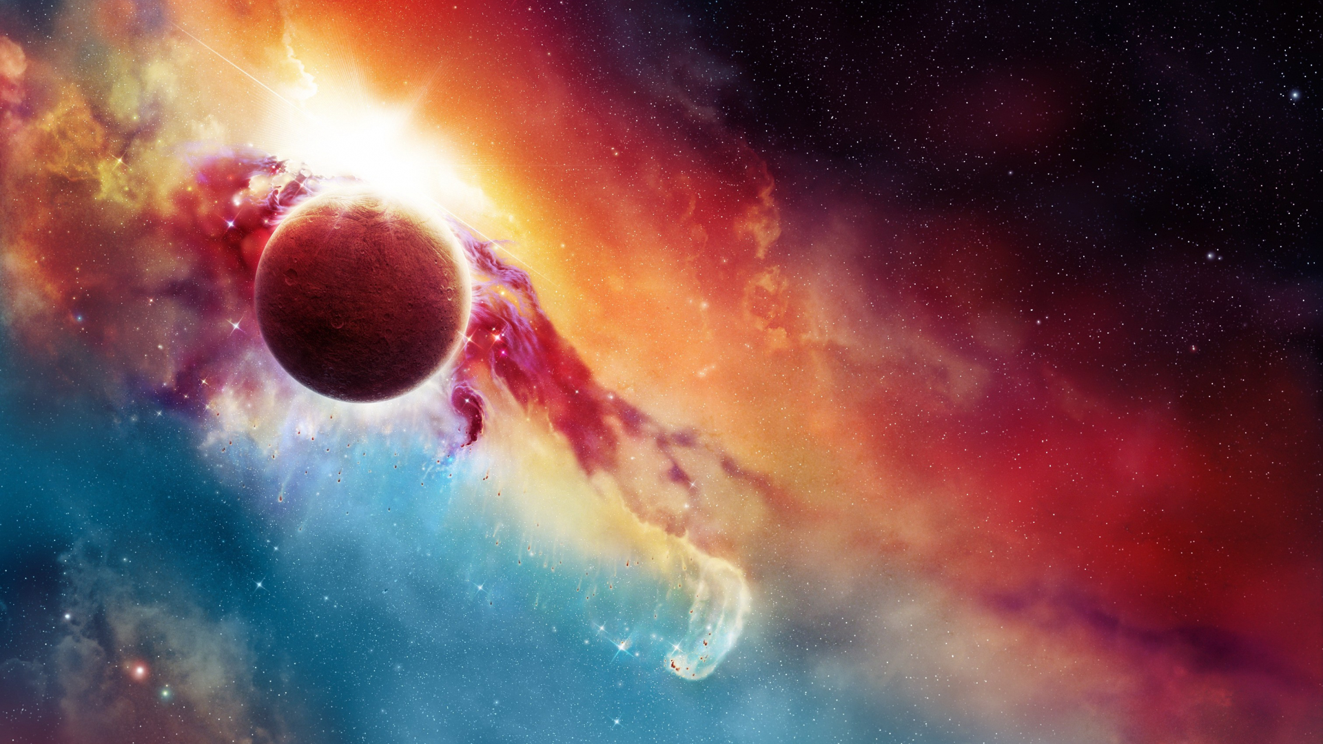 Download 1920x1080 Wallpaper Fantasy Space Planet Wallpaper Full Hd