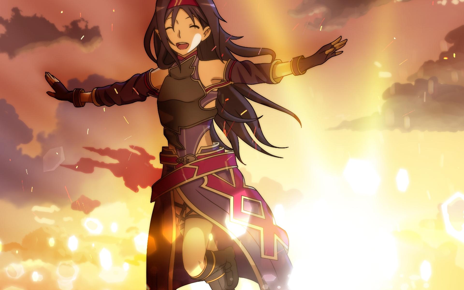 long hair, purple hair, blue eyes, anime, anime girls
