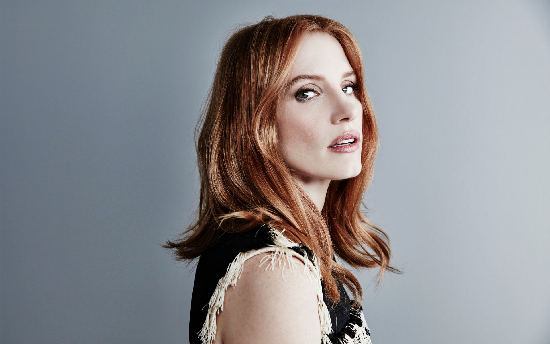 1920x1200 wallpaper Jessica chastain, red head, actress