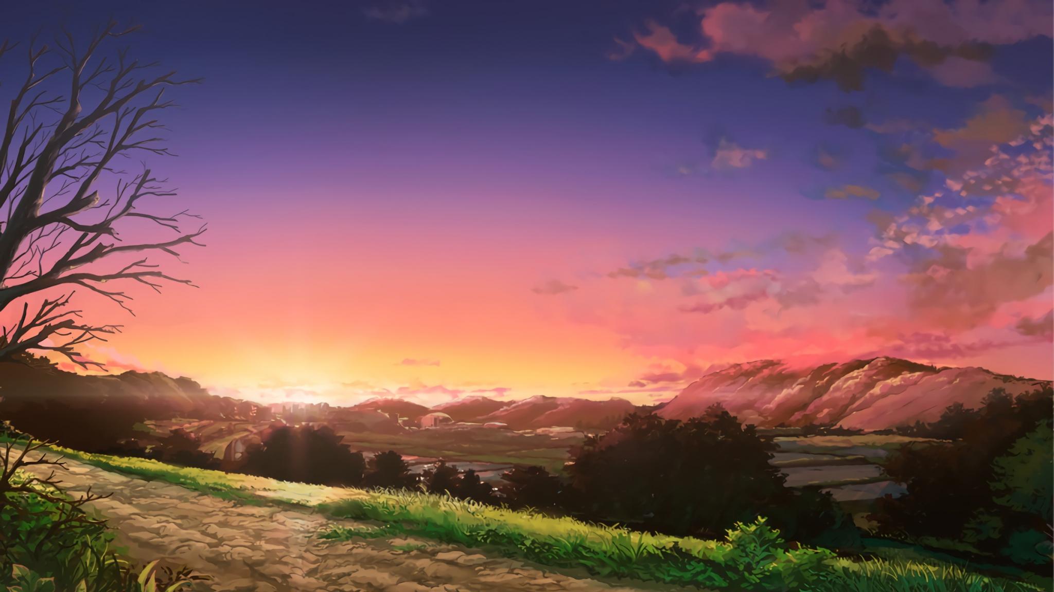 Desktop Wallpaper Anime Nature Digital Art Hd Image Picture Background 803b60
