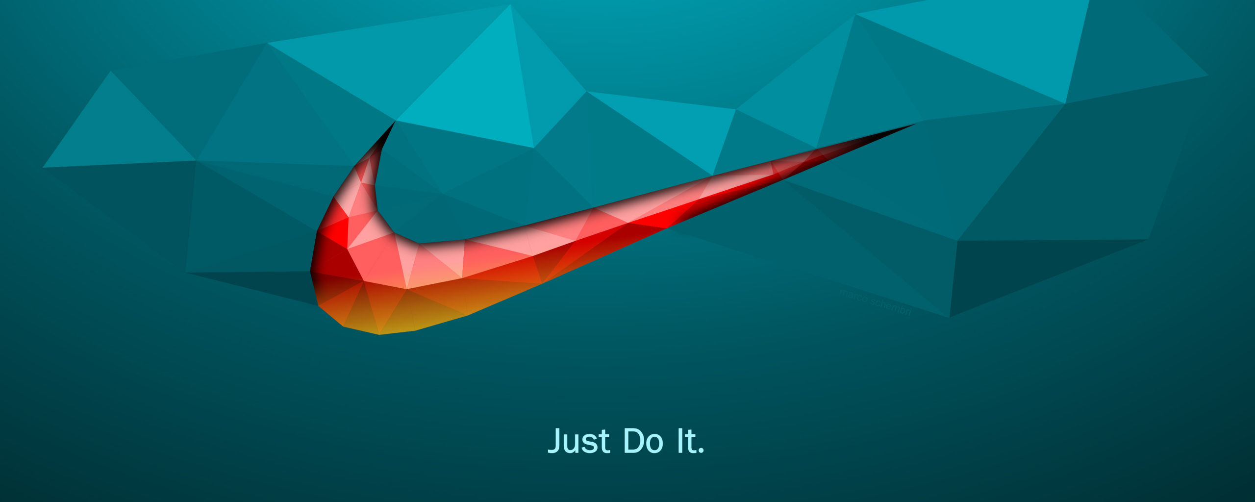 2560x1024 wallpaper Just do it, quotes, Nike, logo, abstract