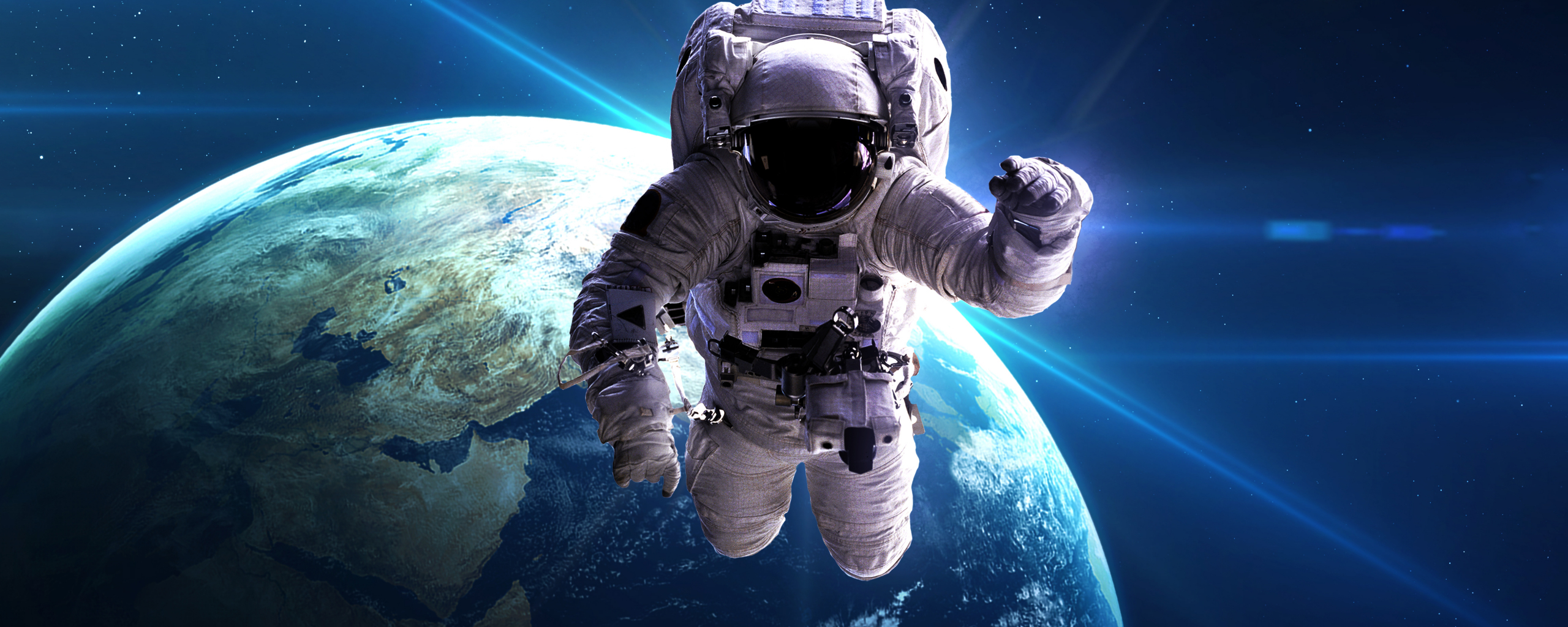 Desktop Wallpaper Astronaut Space Earth Planet Hd Image Picture Background F4cede