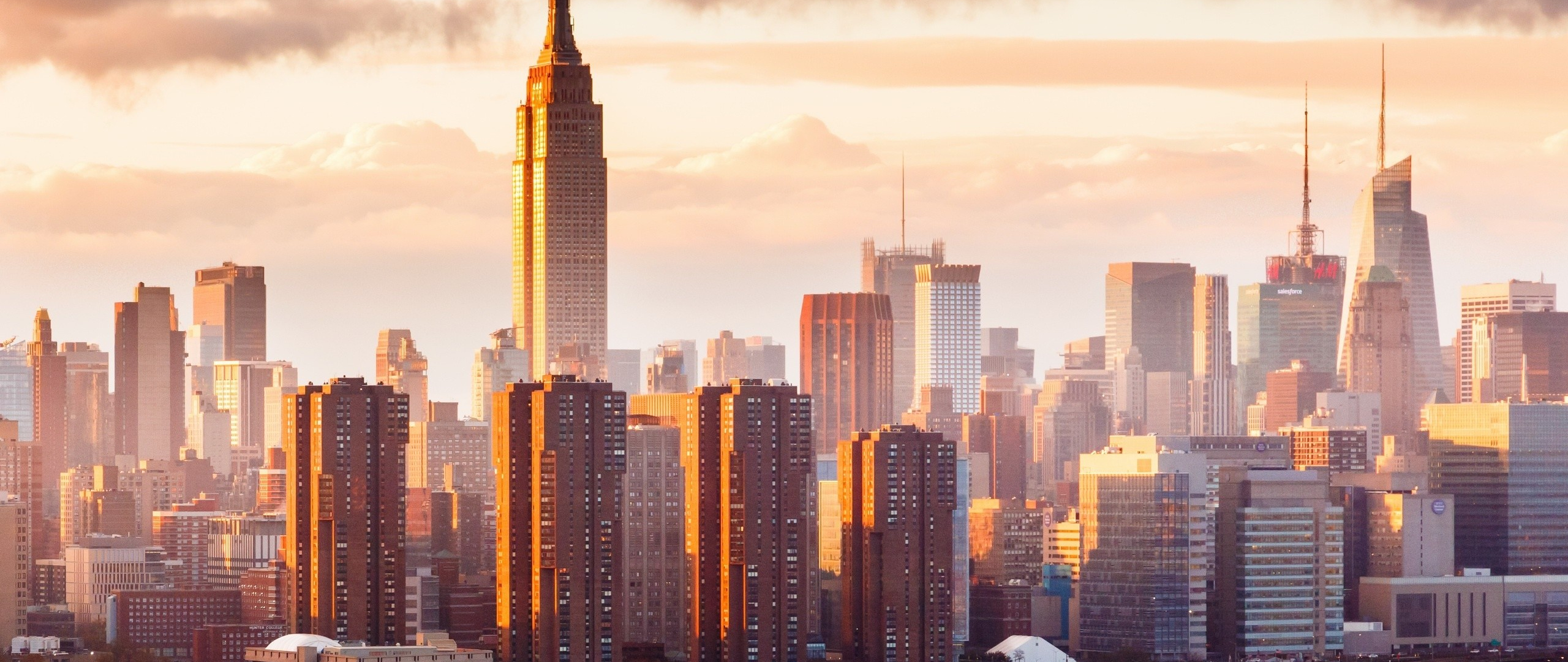 Desktop Wallpaper New York City Sunny Day Buildings Hd Image Picture Background 1e3d72