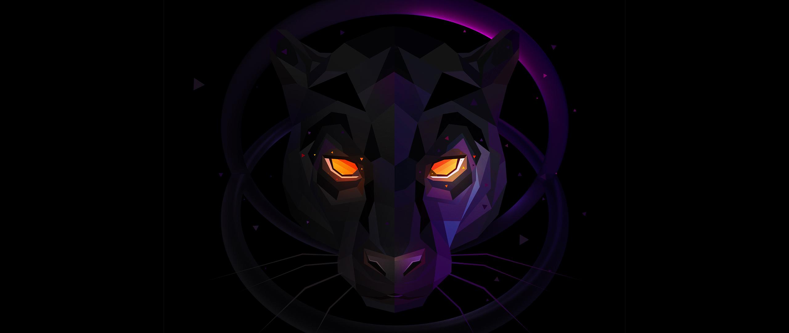 Desktop Wallpaper Black Panther Muzzle Dark Art Hd Image Picture Background 443bec