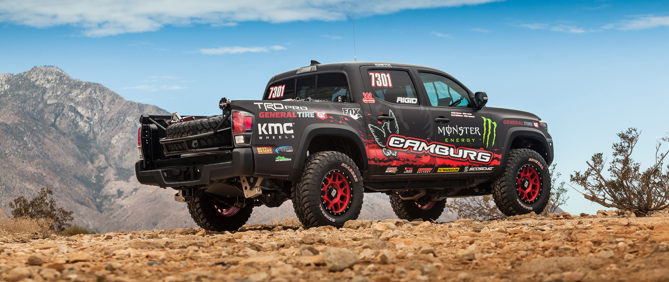 Download 2560x1080 Wallpaper Toyota Tacoma Race Truck Dual