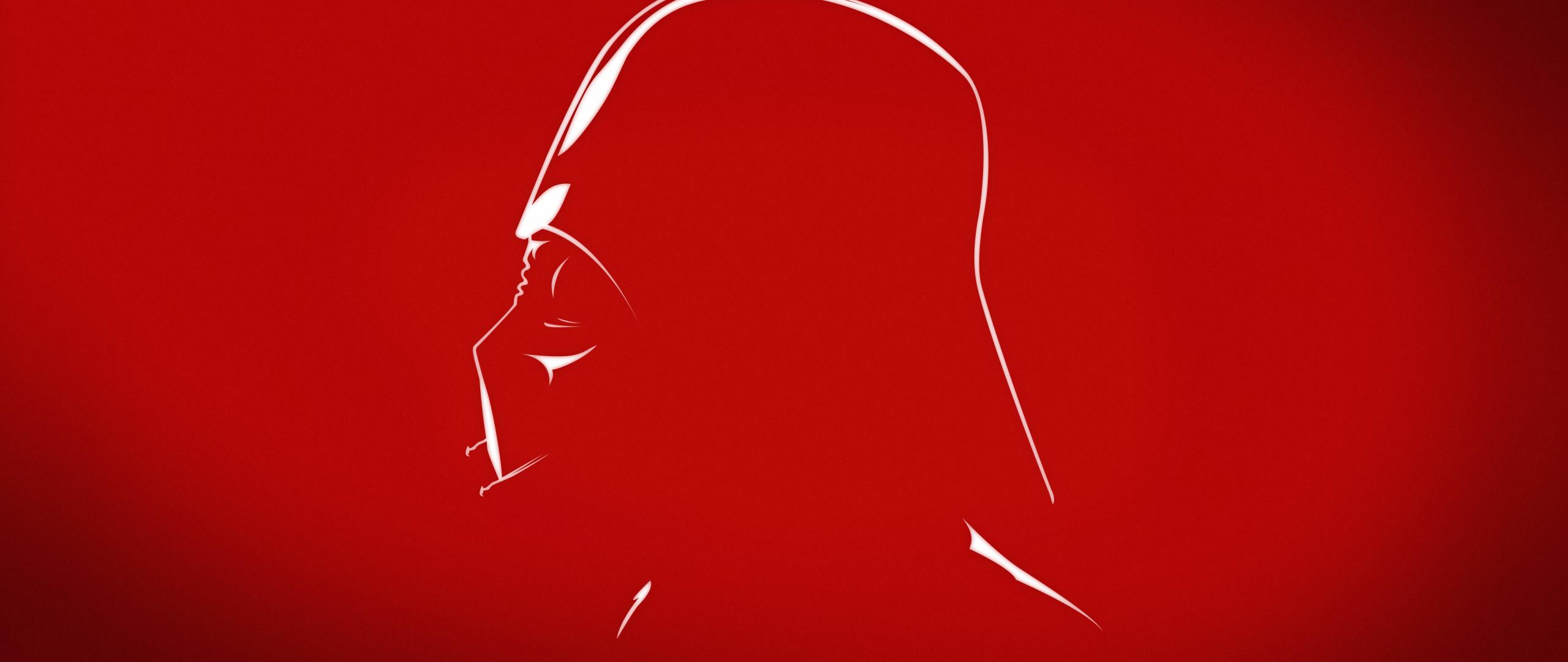 Darth Vader villain minimal wallpaper