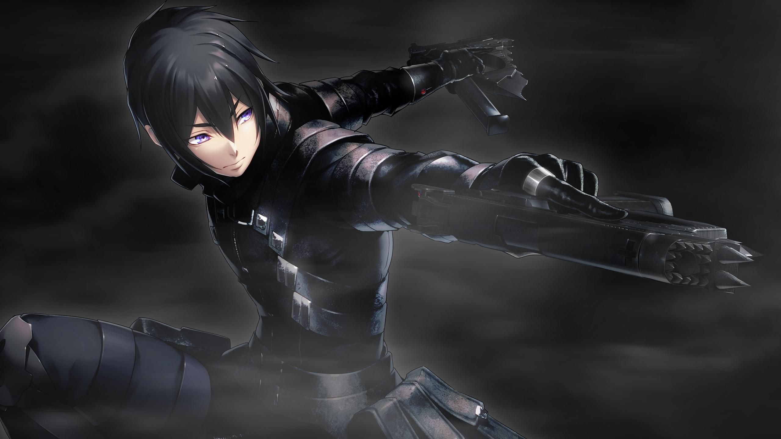 2560x1440 wallpaper Anime boy, game, dark, tokyo necro