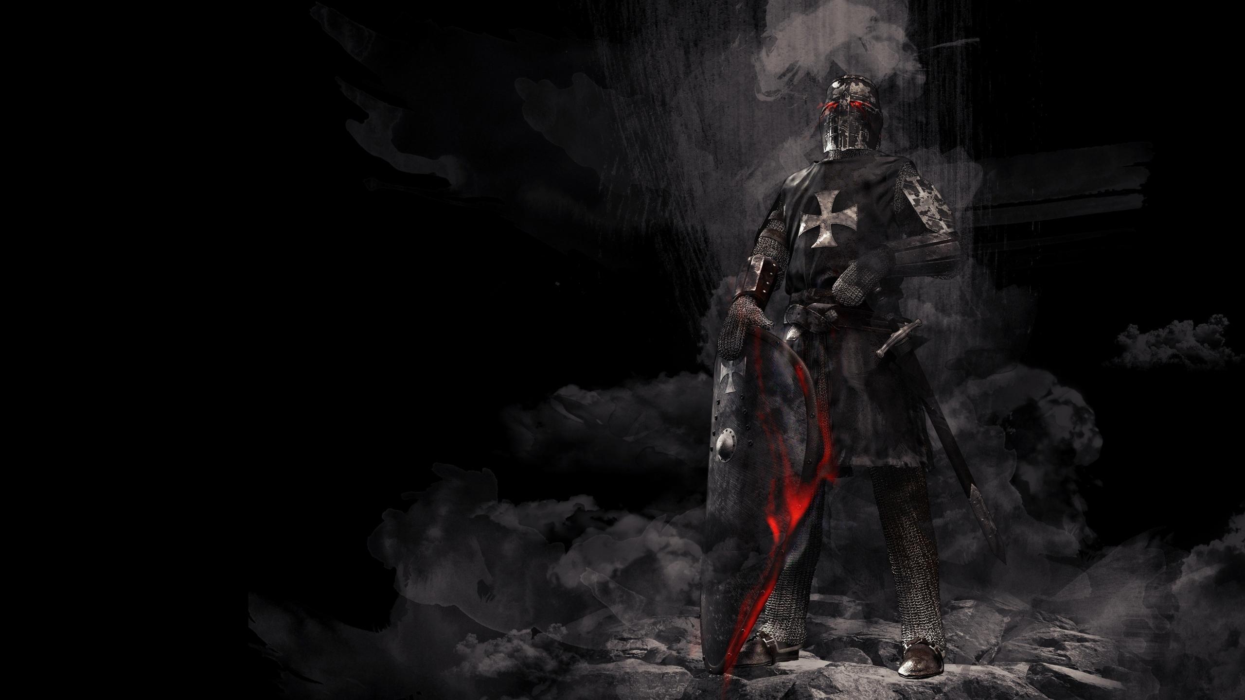 2560x1440 Wallpaper Dark Knight Warrior 4k