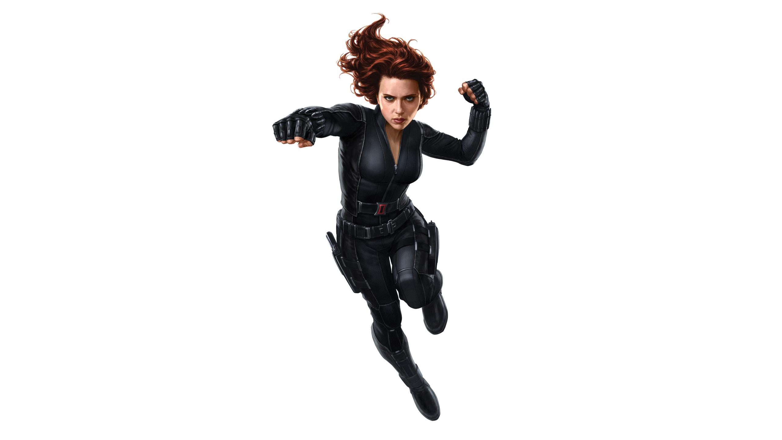 Desktop Wallpaper Black Widow Avengers Infinity War 2018 Movie Minimal Artwork 4k Hd Image Picture Background 686320