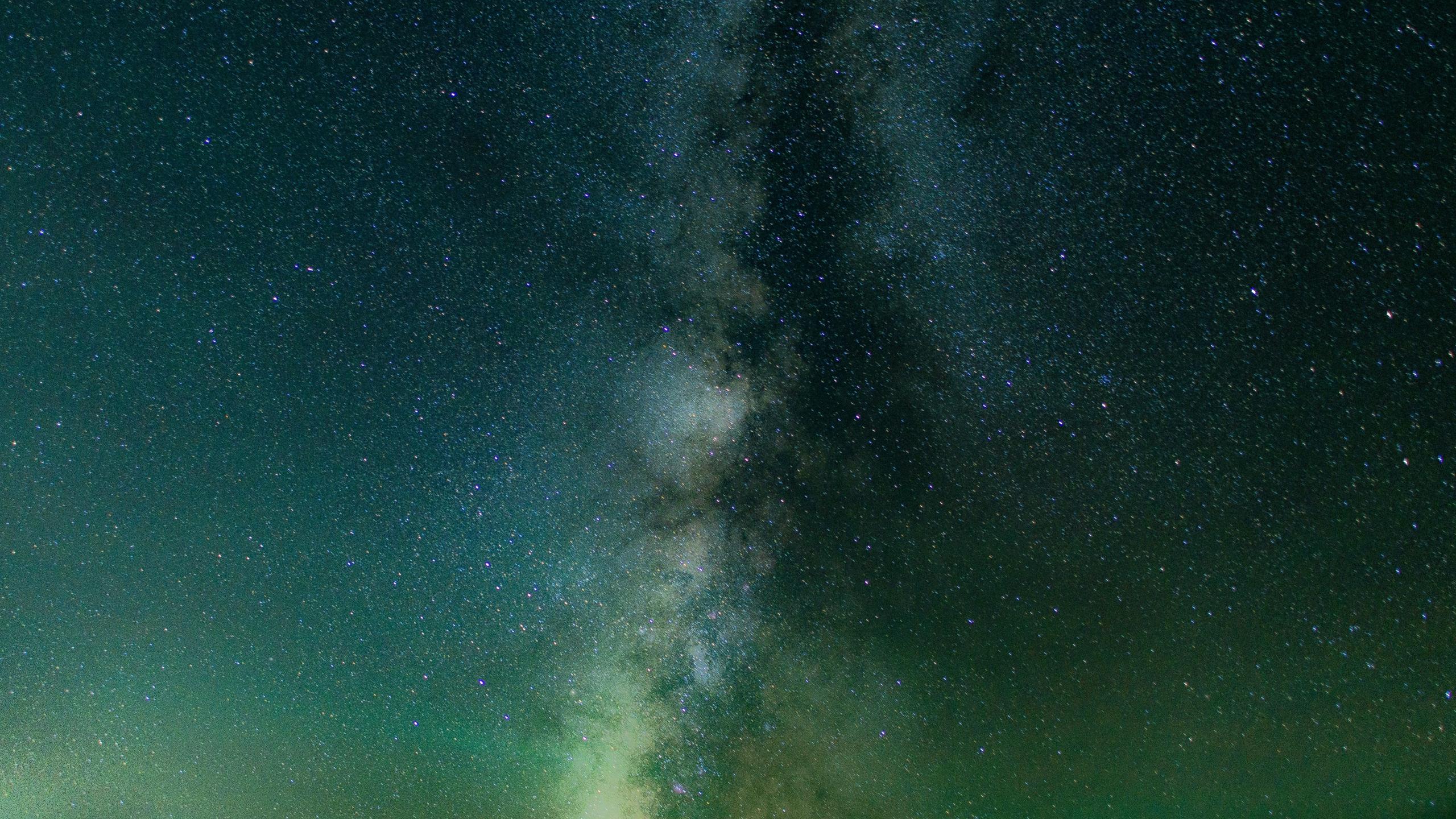 Download 2560x1440 Wallpaper Milky Way Galaxy Starry Night