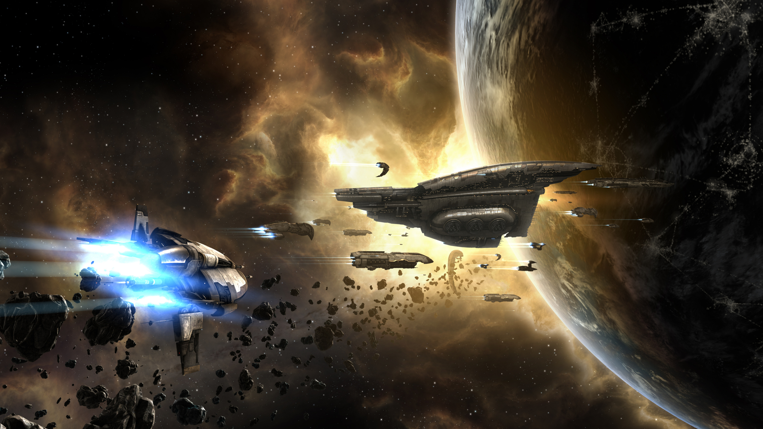 Download 2560x1440 Wallpaper Eve Online Video Game Wallpaper, Dual
