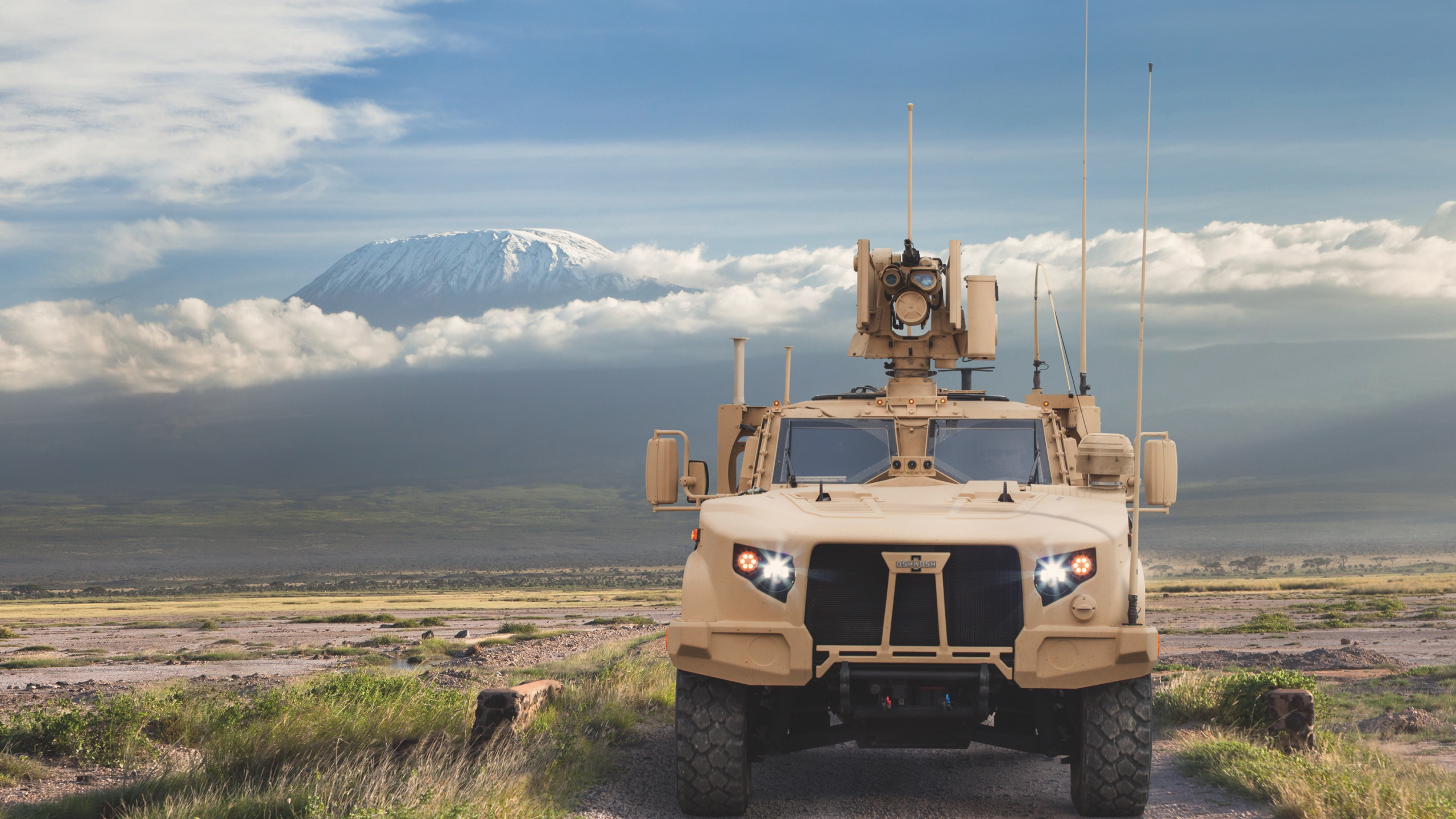 Download 2560x1440 Wallpaper Joint Light Tactical Vehicle, Front