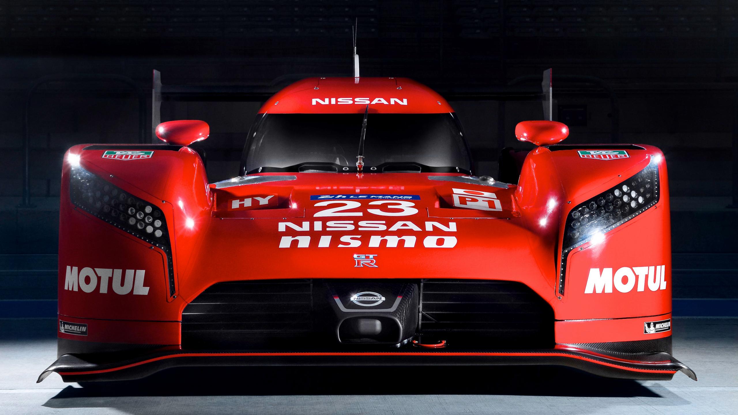 2560x1440 wallpaper Nissan GT-R LM Nismo prototype racing car