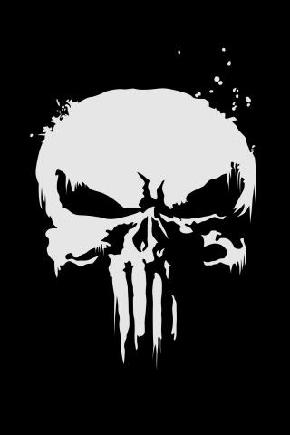 Download 240x320 Wallpaper The Punisher Logo Skull Dark