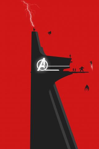 Download 240x320 Wallpaper Avengers, Superhero, Minimal ...