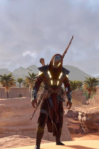 Download 240x320 Wallpaper Assassin S Creed Origins Desert Video