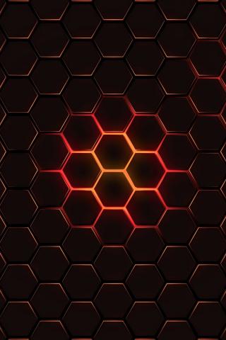 Download 240x320 Wallpaper Hexagon Pattern Geometry