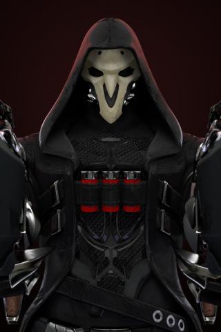 Download 320x480 Wallpaper Reaper Guns Overwatch Samsung Galaxy