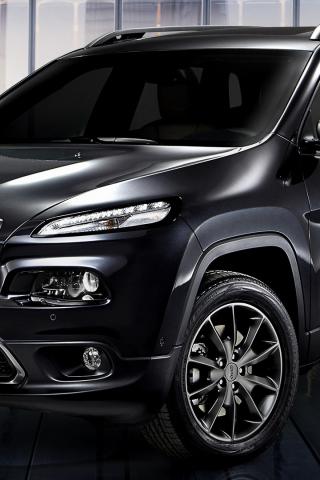 Download 320x480 Wallpaper Black Car 2018 Jeep Cherokee
