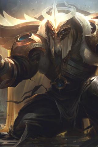 320x480 wallpaper Yorick, League of Legends, champion, warrior