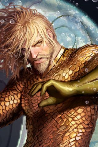 Download 240x320 Wallpaper Aquaman Superhero 4k Artwork Old