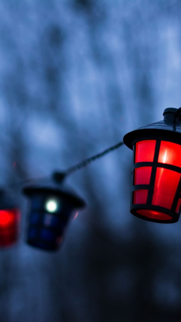 360x640 wallpaper Lantern, decorations, night
